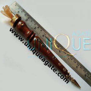 Chakra-wooden-healing-stick-with-golden-quartz-angel