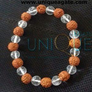 Crystal-&-Rudraksha-Bracele