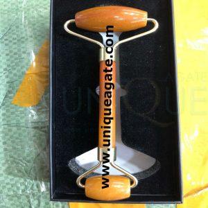 Golden-Quartz-Massage-Rolle