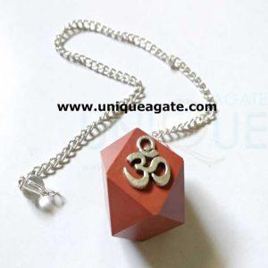 Red-Jasper-Om-Pendulum