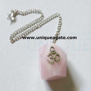 Rose-Quartz-Om-Pendulum