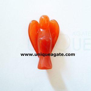 1 Inch Carnelian Curved Gemstone Angel