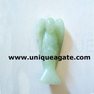 1 Inch Green Avneturine Curved Gemstone Angel