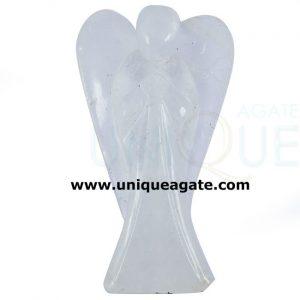 2 Inch Clear Crystal Quartz Curved Gemstone Angel