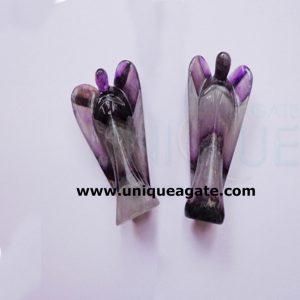 3 Inch Amethyst Curved Gemstone Angel