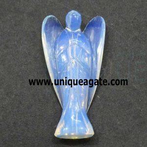 3 Inch Opalite Curved Gemstone Angel