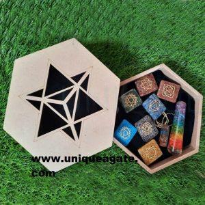 Wholesale customized chakra orgone kit healing crystal set for meditation