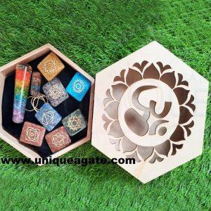 wooden seven chakra gift box